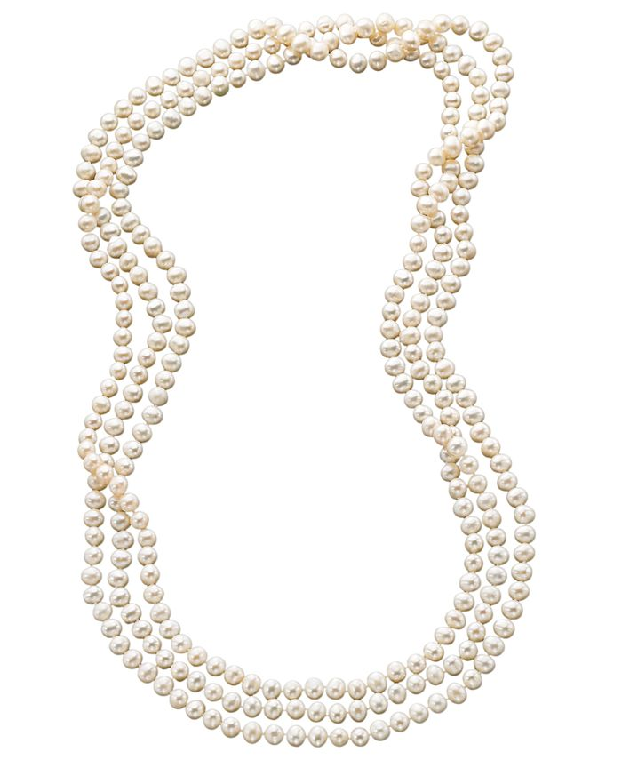 """Macy's - 100"""" Cultured Freshwater Pearl Endless Strand Necklace (7-8mm)"""