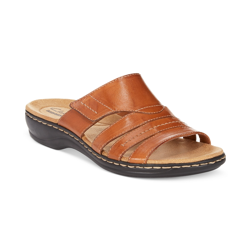 2f86e8177bbf Clarks Collection Womens Leisa Grove Flat Sandals (Only at) on PopScreen