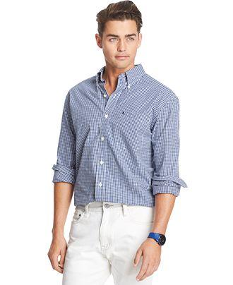Izod Gingham Long Sleeve Shirt