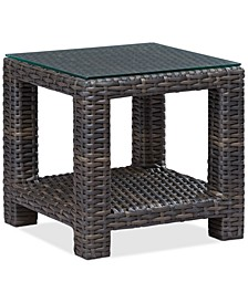 "Viewport Wicker 22"" Square Outdoor End Table, Created for Macy's"