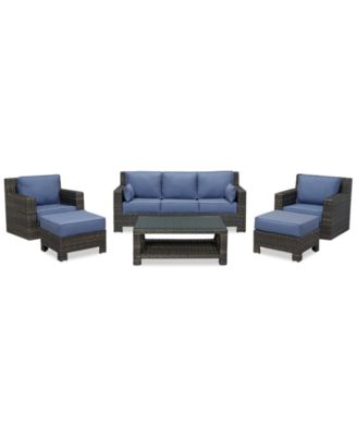 Viewport Outdoor Wicker 6-Pc. Seating Set (1 Sofa, 2 Swivel Gliders, 2 Ottomans and 1 Coffee Table), Created for Macy's
