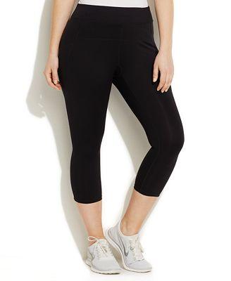 calvin klein performance plus size capri leggings - pants - plus