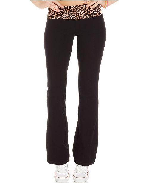 22802e5ea3158 ... Material Girl Active Juniors' Foldover Waistband Yoga Pants ...