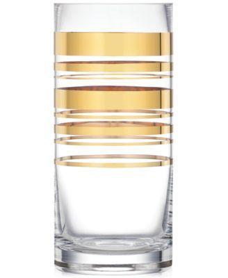 Hampton Street Gold Striped Vase