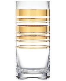 kate spade new york Hampton Street Gold Striped Vase