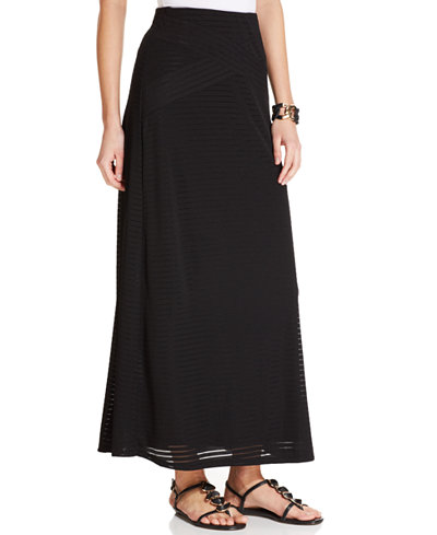 ECI Ribbed A-Line Maxi Skirt - Skirts - Women - Macy's