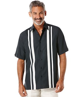 Cubavera big and tall paneled short sleeve shirt casual for Big and tall casual shirts