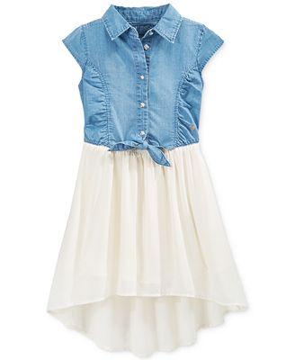 GUESS Little Girls Tie-Front Dress