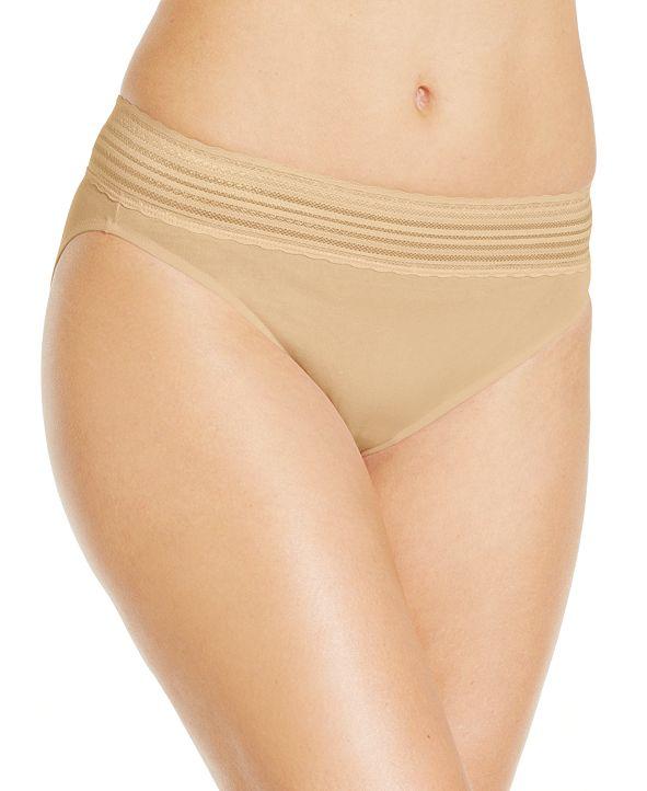 Warner's No Pinching No Problems Cotton Hi Cut Brief Underwear RT2091P