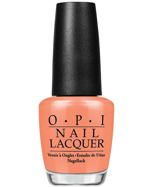 OPI Nail Lacquer, Is Mai Tai Crooked?