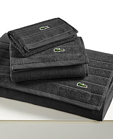 "CLOSEOUT! Lacoste Croc Solid 16"" x 30"" Hand Towel"