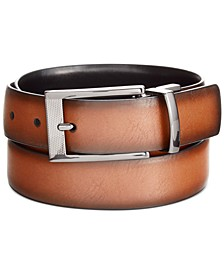 Men's Leather Reversible Dress Belt""