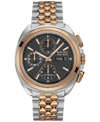 Bulova AccuSwiss Men's Automatic Chronograph Telc Two-Tone