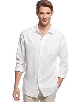 Tommy bahama men 39 s sea glass breezer linen shirt casual for Tommy bahama florida shirt