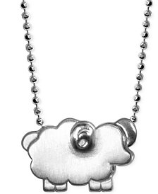 Little Sheep Zodiac Pendant Necklace in Sterling Silver