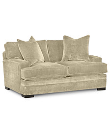 "Teddy 66"" Fabric Loveseat - Custom Colors, Created for Macy's"
