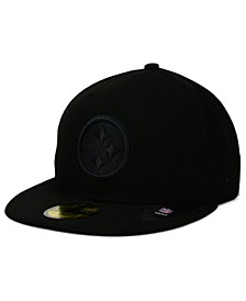 Pittsburgh Steelers Black on Black 59FIFTY Fitted Cap