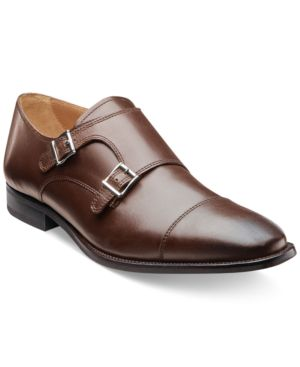 FLORSHEIM Men'S Sebato Double Monk Strap Loafer Men'S Shoes in Brown