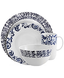 Vera Wang Wedgwood Simplicity Indigo Chevron Collection