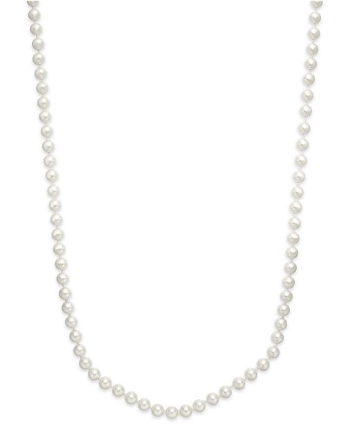 Imitation Pearl 72 Inch Long Strand Necklace