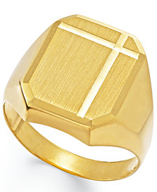 Men's Polished Ring in 14k Gold