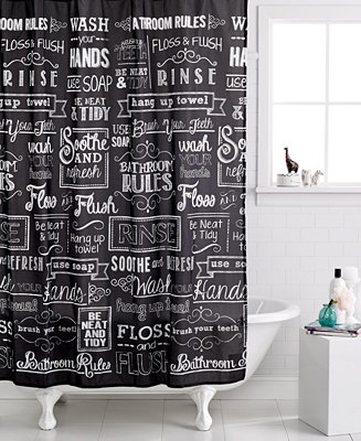 Avanti Chalk It Up Shower Curtain Shower Curtains