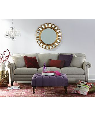 scarlette fabric sofa living room furniture collection - furniture