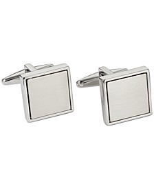 Polished Square with Brushed Center Cufflinks