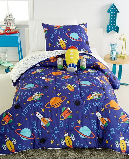 VCNY Home CLOSEOUT! Out Of This World Reversible 4-Pc. Full Comforter Set