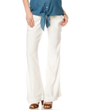 A Pea In The Pod Maternity Linen Wide-Leg Pants plus size,  plus size fashion plus size appare