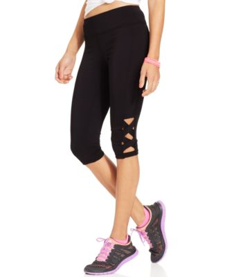 Material Girl Active Womens Plus Size Colorblocked Leggings