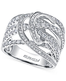 EFFY Diamond Swiggle Ring in 14k White Gold (1-5/8 ct. t.w.)