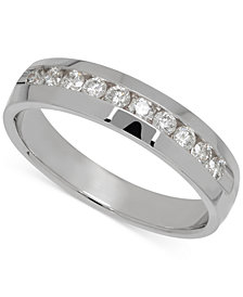 Men's Diamond Band in 14k White Gold (1/2 ct. t.w.)