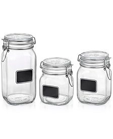 Bormioli Rocco Fido 3 Piece Jar Chalk Set