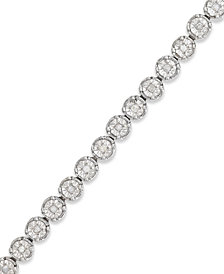 Diamond Tennis Bracelet in Sterling Silver (1/2 ct. t.w.)
