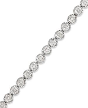 Diamond Tennis Bracelet in Sterling Silver (1/2 ct. t.w.)