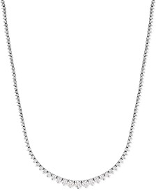 Certified Diamond Riviera Chain Necklace in 14k White Gold (10 ct. t.w.)