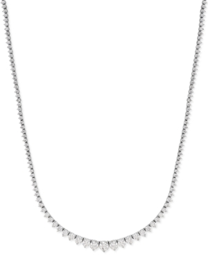 Certified Diamond Riviera Chain Necklace in 14k White Gold (10 ct. t.w.)