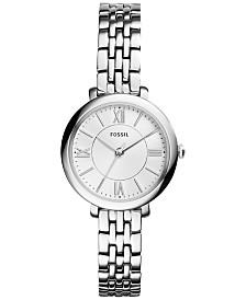 Fossil Women's Mini Jacqueline Stainless Steel Bracelet Watch 26mm ES3797