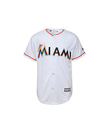 Majestic Kids' Miami Marlins Replica Jersey, Big Boys (8-20)