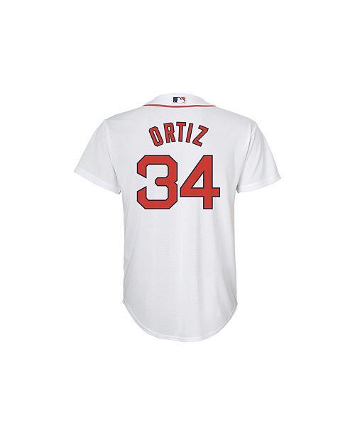watch f9042 5c0de David Ortiz Boston Red Sox Replica Jersey, Big Boys (8-20)