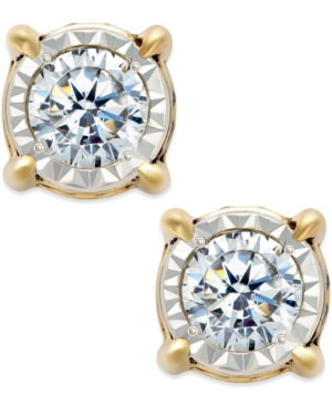 Upc 631605023615 Product Image For Trumiracle Diamond Stud Earrings In 14k Gold 3 4