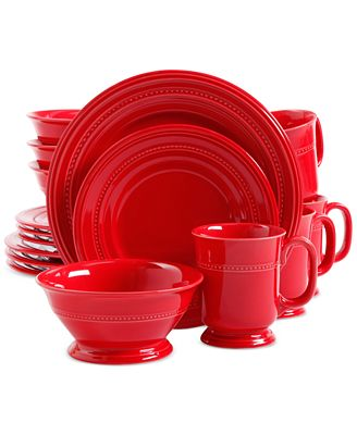 Signature Living Adele Red 16-Piece Set, Service for 4