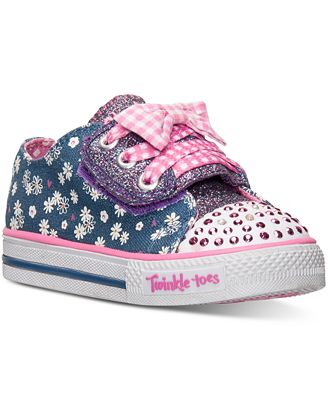 sketchers toddler shoes. skechers toddler girls\u0027 twinkle toes: shuffles - daisy dotty sneakers from finish line sketchers shoes