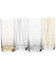 Mikasa Cheers Party Highball Glasses, Set of 4