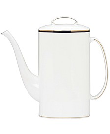 Library Lane Navy Coffeepot with Lid