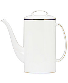 kate spade new york Library Lane Navy Coffeepot with Lid