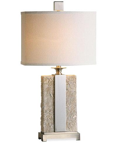 Uttermost Bonea Stone Ivory Table Lamp