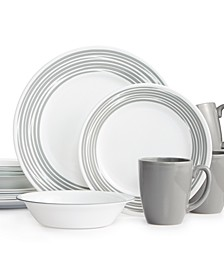 Brushed 16-Pc. Dinnerware Set, Service for 4