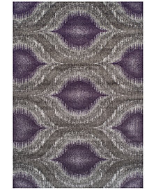"Neo Grey Cove Plum 9'6"" x 13'2"" Area Rug"
